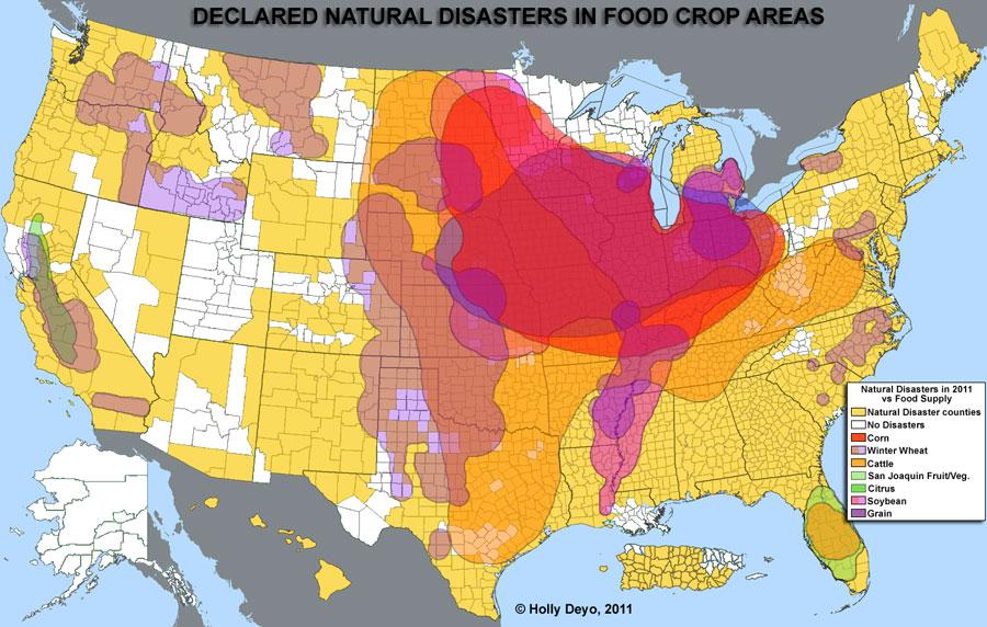 Millennium Ark Hot News - Us crop map