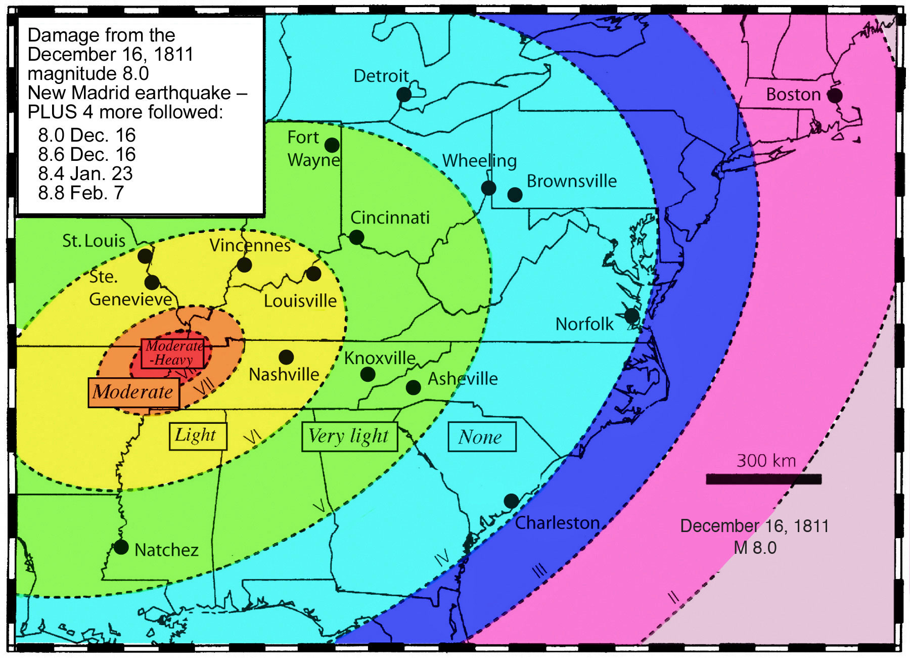 Millennium Ark Hot News - Map of us after new madrid earthquake