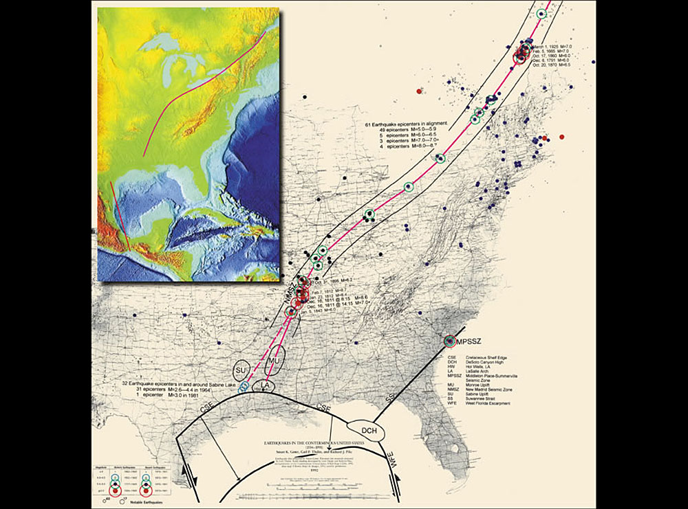 Key Faultlines - Fault lines in us map