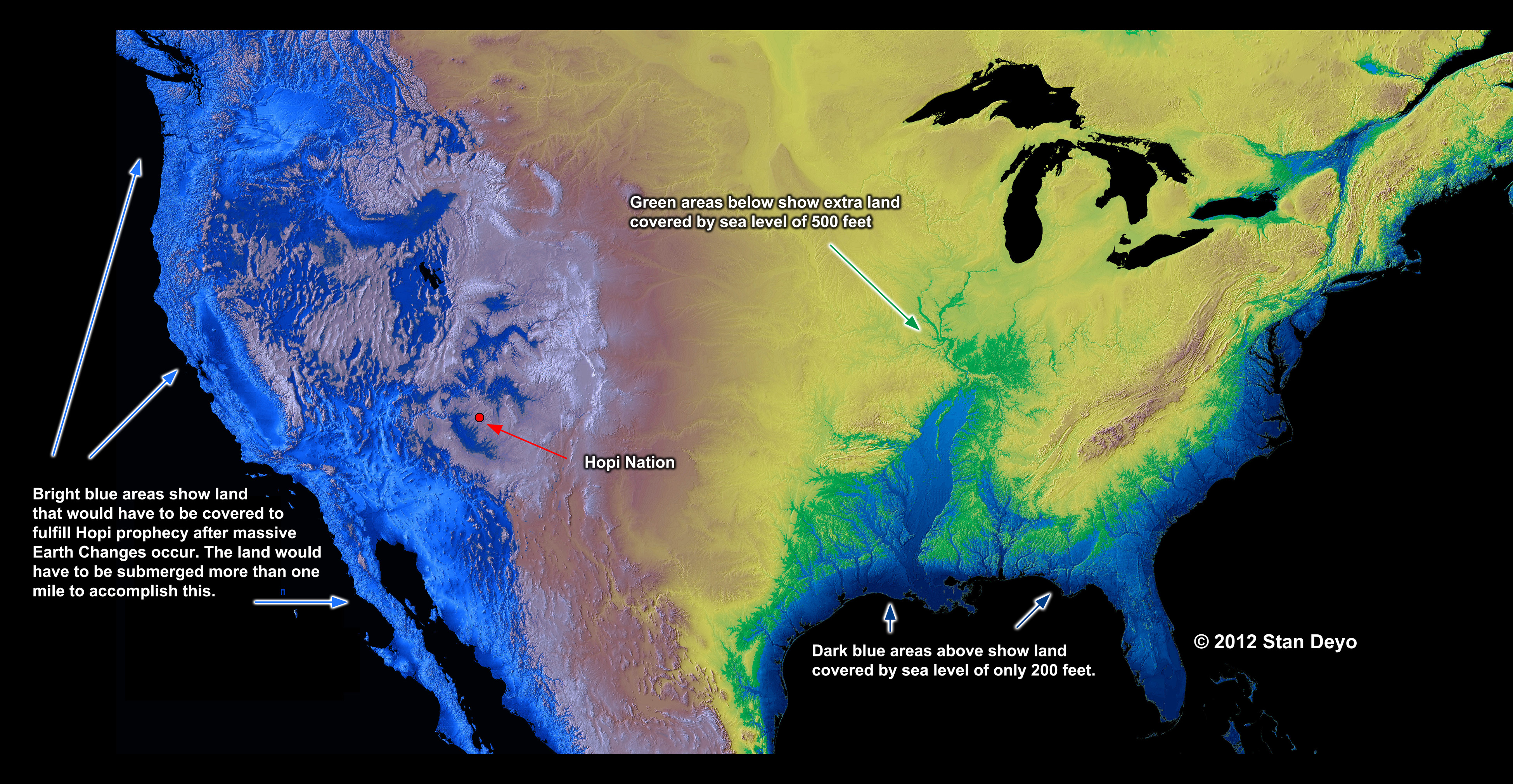 Possible Sea Level Rises - Us sea level rise map