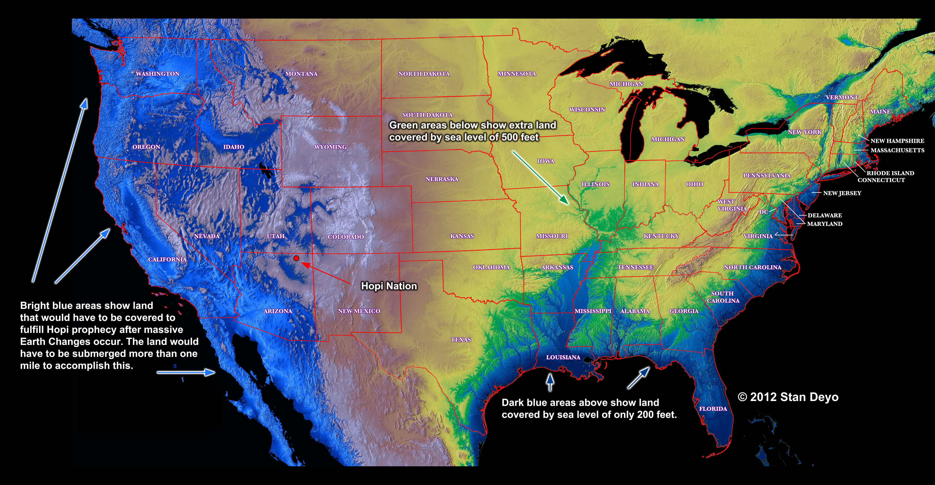 Possible Sea Level Rises - Us sea level map