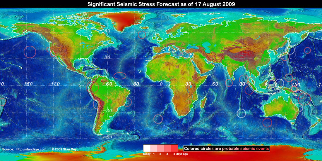 Stan deyos earthquake warning disclaimer some of the forecast stress areas can be in error up to 30 due to cloud cover variations and false signals from buoys gumiabroncs Image collections